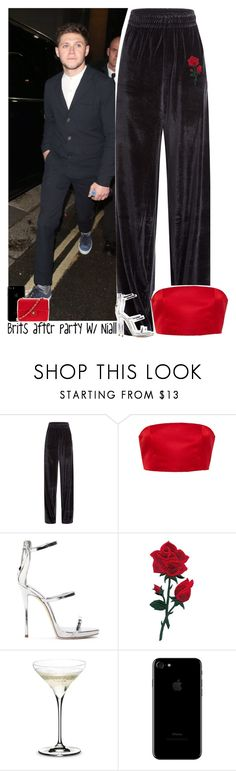 """Brits after party with Niall"" by lottieaf ❤ liked on Polyvore featuring Vetements, Katie Ermilio, Giuseppe Zanotti, Riedel, Chanel, OneDirection and NiallHoran"
