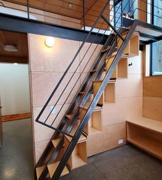 Alternating Tread Staircase by Misty Mountain Woodworks, Inc - Jettin' Becks - Re-Wilding