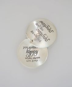 Five Little Birds Sterling Silver 'You Are My Sunshine' Locket by Five Little Birds #zulily #zulilyfinds