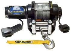 Superwinch 1130220 LT3000ATV 12 VDC winch 3,000lbs/1360kg with roller fairlead, mount plate, handlebar rocker switch, and handheld remote « AUTOMOTIVE PARTS & ACCESSORIES AUTOMOTIVE PARTS & ACCESSORIES