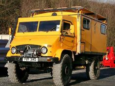 This veteran Unimog camper is based on a U404S radio van.