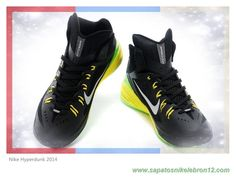 c8a6a9cdbdf4 Nike Hyperdunk 2014 Preto Grass   Verde Amarelo 653640-033 Black Grass