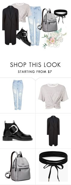 """""""Untitled #58"""" by alexastraznova on Polyvore featuring Topshop, T By Alexander Wang, Maison Margiela, Alexander Wang and Boohoo"""