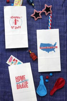 printable party bags for the 4th of July