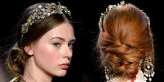 """The Look: Painted Lady How-To: Marchesa's love affair with all things feminine and dramatic continued this season: After countless shows championing minimalism and individuality through clean skin and natural hair, the jeweled headbands, softly twisted updos and pretty pink lips and cheeks here transported us to Haute Couture, if only for one dreamy moment. The idea was that the girl had just come to life from an 1800s John Singer Sargent portrait—""""a retouched one,"""" noted Bobbi Brown, who…"""