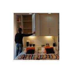 armoire de chambre contemporaine en bois porte battante pont de lit multiplo satarossa. Black Bedroom Furniture Sets. Home Design Ideas