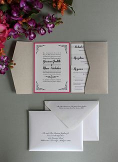 Plush Paper Design Blog: Jessica & Marc : Wedding Invitations