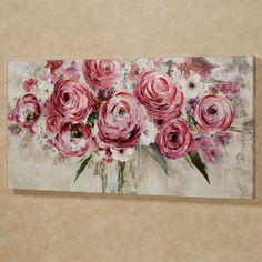 Rosa Impressions Floral Canvas Wall Art