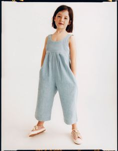 Discover the latest kids' clothes, shoes and accessories updated every week at ZARA online. Chambray Jumpsuit, Dresses Kids Girl, Dresses For Teens, New Fashion Clothes, Kids Fashion, Toddler Outfits, Kids Outfits, Rompers For Kids, Elle Fashion