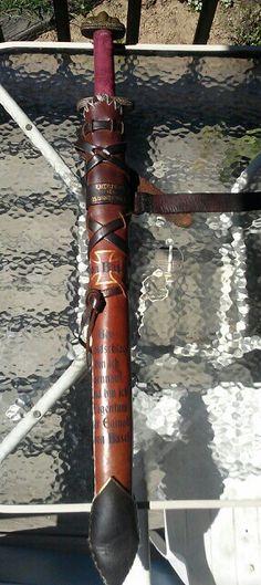 Todtschlag, the rattan sword & scabbard for my brother Eginolf.