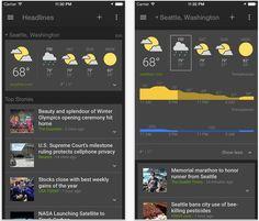 Aplicația Google News & Weather este disponibilă pentru iOS