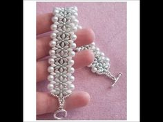 Bracciale Ice (DIY - Ice Bracelet) with pearls and superduos ~ Seed Bead Tutorials