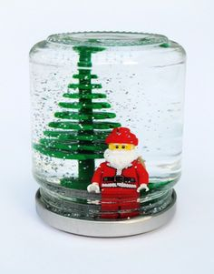 There's something genius about combining two kid-favorites like LEGOS and snowglobes. Sure, your little LEGO lover will have to sacrifice a piece or two, but everything shakes out when you've got the competed craft in hand.