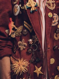 Organized chaos on the jackets at the Vivienne Westwood Gold Label SS16 show.
