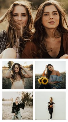 Modern Senior Photos Sunflowers and sunshine; hair flips and happy times; best friends and solo shots; Friend Poses Photography, Senior Girl Photography, Portrait Photography, Female Photography, Maternity Photography, Couple Photography, Photography Tips, Friend Senior Pictures, Senior Photos