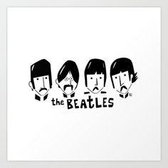 The Beatles Art Print by marceloBAdARI - $16.22