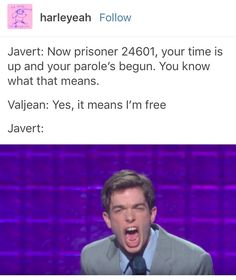 Combines my love of John Mulaney with my affection for newsies Theatre Jokes, Theatre Nerds, Music Theater, Les Miserables, Lily Collins, John Mulaney, Broadway Theatre, Dear Evan Hansen, Held