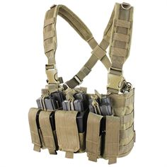 The Recon Chest Rig has compact AR & pistol kangaroo pouch design and is built to military specs. The Recon Chest Rig can hold six and six pistol mags. Tactical Chest Rigs, Tactical Packs, Tactical Vest, Tactical Clothing, Best Survival Gear, Tactical Survival, Combat Gear, Shooting Gear, Duty Gear