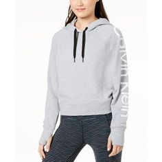 cdcace94095 Calvin Klein Performance Relaxed Logo Hoodie (810.955 IDR) ❤ liked on Polyvore  featuring tops