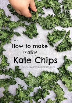 How to cook healthy kale chips with kids.