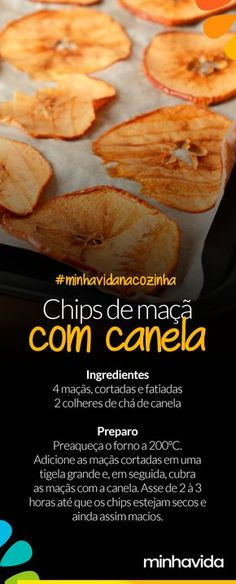 Cinnamon apple chips: low calorie snack option … – About Healthy Meals Healthy Breakfast Snacks, Cinnamon Apple Chips, Vegetarian Recipes, Healthy Recipes, Low Calorie Snacks, Healthy Comfort Food, Eating Habits, Love Food, Sweet Recipes