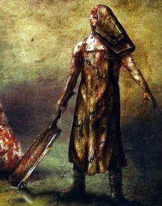the butcher - silent hill origins Silent Hill Video Game, Silent Hill Art, Silent Hill Nurse, Horror Fiction, Horror Movies, Silent Hill Origins, Evil Dead, Pyramid Head, Arte Horror
