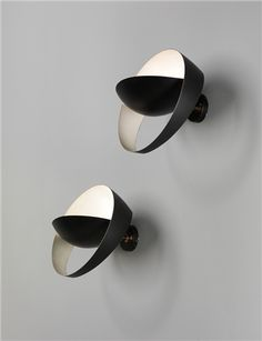 SERGE MOUILLE, Pair of 'Saturne' wall lights