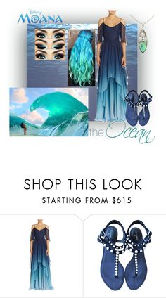 """""""The Ocean; Moana"""" by foreverdisneybounding ❤ liked on Polyvore featuring Theia, Chanel, ocean, disneybound and moana"""