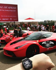 REPOST!!!  Yesterday Event .  Ferrari 70th Anniversary . Festival of Speed . 2 La Ferrari Behind me 😍😍😍 #laferrari #ferrari #richardmille #rm27 #nadal #tourbillon  Photo Credit: Instagram ID @holynitro