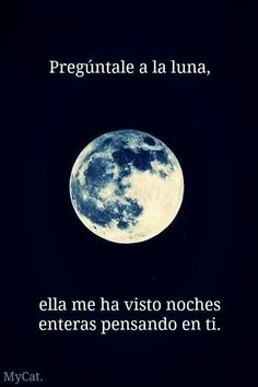Pregúntale a la luna. #frases