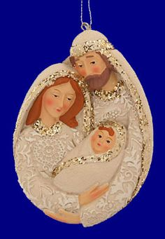 Oval Holy Family Ornament or Wall Plaque