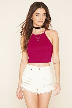 Smocked Strappy Crop Top