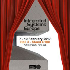 Ready for the big show!? #ISE2017 is opening tomorrow, and the Architettura Sonora crew is ready to welcome you at our stand C100 in Hall 3 and unveil all the amazing novelties!