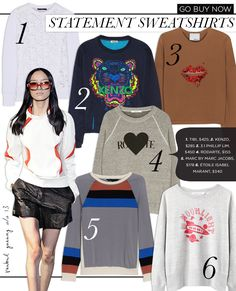 dce7bd34dfa Dress up your sweatshirt! Get inspired from these designer looks! Fashion  Infographic
