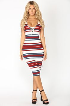 The Perfect Midi Dress - Shop Midi Dresses for Women – 6 Navy Dress Outfits, Sexy Dresses, Summer Dresses, Dress Red, Work Dresses For Women, Clothes For Women, Online Dress Shopping, Knit Dress, Dress To Impress