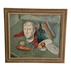 William Edwin Gebhardt Still Life Painting | Chairish Wood Painting Art, Wood Art, Mid Century Modern Art, Muted Colors, Still Life, Primitive, Art Decor, Folk, Scene