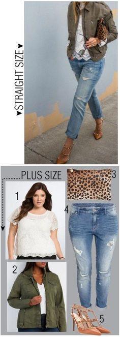 Straight Size to Plus Size - Lace & Denim Outfit - Plus Size Fashion - Alexawebb.com #alexawebb