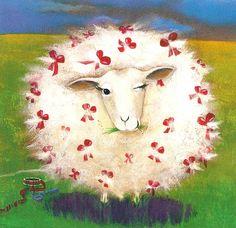 Schaf Kinderbuchillustration - found                                                                                                                                                                                 Mais