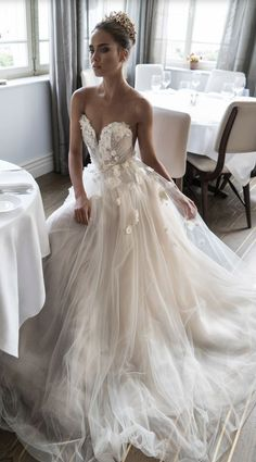 Featured Dress: Elihav Sasson; Wedding dress idea.