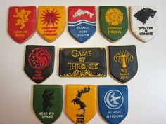 These amazing 'Game of Thrones' cookies are what you were missing to make your viewing party perfect. | Game Of Thrones | Happy Place