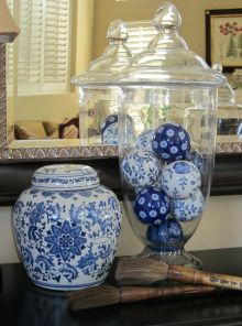 the balls in the apothecary jar