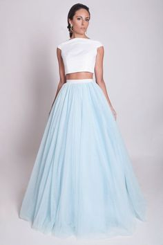 Customized Feminine Beautiful Prom Dresses, 2018 Two Piece Prom Dress Modest Beautiful Cheap Long Prom Dress Prom Dresses Two Piece, Prom Dresses 2018, Tulle Prom Dress, Beautiful Prom Dresses, Prom Dresses Online, Cheap Prom Dresses, White Wedding Dresses, Modest Dresses, Trendy Dresses