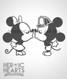 Firefighter Mickey and Minnie decal!
