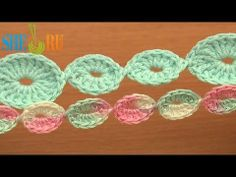 ▶ Crochet Cord Made of Rings Tutorial 65 Crochet Bracelets Necklaces Belts - YouTube