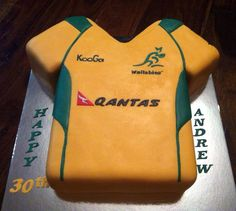 Wallabies rugby cake Man Birthday, Friend Birthday, Birthday Cakes, Rugby Cake, Rugby Girls, Little Man Party, 50th Cake, Cake Business, Cakes For Men