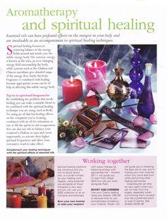 Aromatherapy and spiritual healing