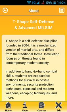 T-Shape Self Defense & MILSIM - Android Apps on Google Play https://play.google.com/store/apps/details?id=tshape.selfdefense.milsim #Android