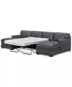 Furniture Avenell Leather Sectional and Sofa Collection, Created for Macy's & Reviews - Furniture - Macy's Full Sleeper Sofa, Sectional Sleeper Sofa, Loveseat Sofa, Sofas, Leather Couch Sectional, Modular Sectional Sofa, Living Room Sectional, Room Ideas, Decor Ideas