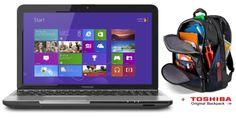 Toshiba Satellite 15.6 Touchscreen C55T-A5350 Notebook Intel Core i3-3110M Value Bundle