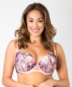 Love Affair Plunging Balconette by Curvy Couture  34C to 42H (US sizing)